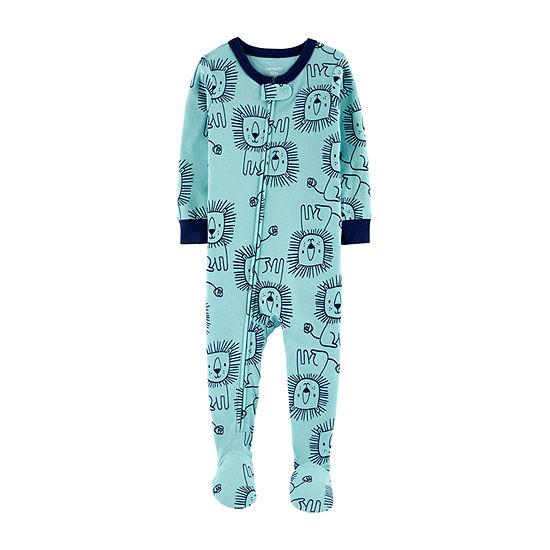 Carter's Boys Knit Long Sleeve One Piece Pajama