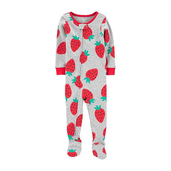 Carter's Girls Knit Long Sleeve One Piece Pajama