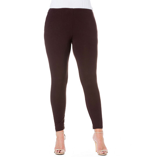 24/7 Comfort Apparel Stretch Ankle Length Leggings - Plus