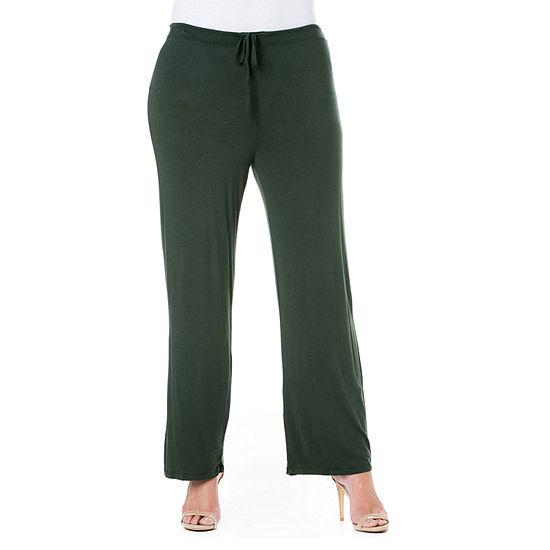 24/7 Comfort Apparel Comfortable Drawstring Lounge Pants - Plus