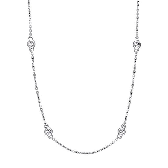 14K White Gold 18 Inch Cable Chain Necklace