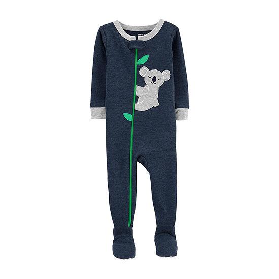 Carter's Boys Knit One Piece Pajama Long Sleeve