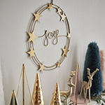 "North Pole Trading Co. ""Joy"" Star Indoor Christmas Wreath"
