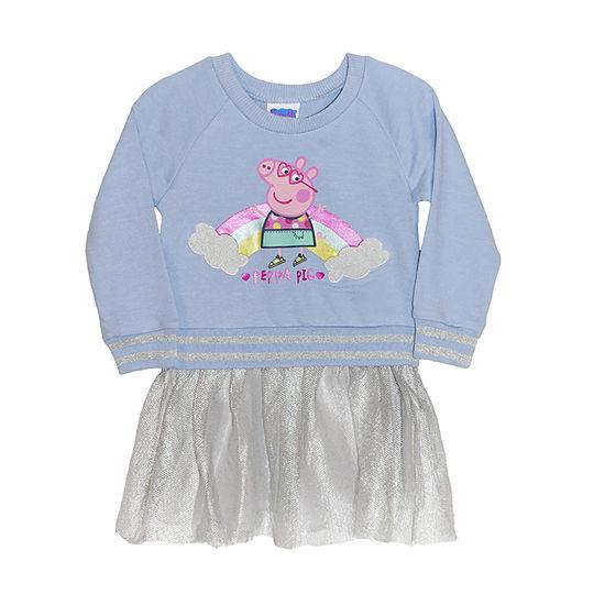 Entertainment One Uk Toddler Girls Long Sleeve Peppa Pig Skater Dress