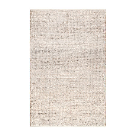 nuLoom Elfriede Solid Hand Woven Rug, One Size , White