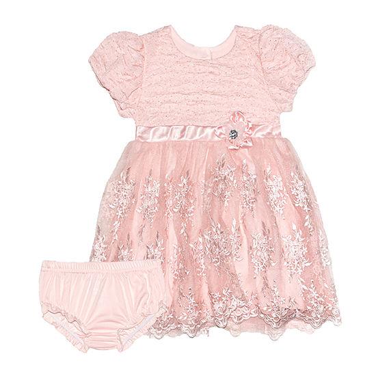 Nannette Baby Baby Girls Short Sleeve Dress Set