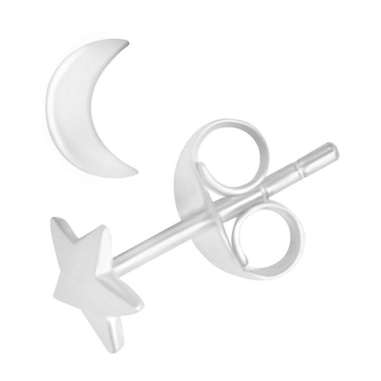 Itsy Bitsy Sterling Silver 4.5mm Star Stud Earrings