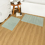 Riviera Home Striped Reversible Cotton 2-pc.Bath Rug Set