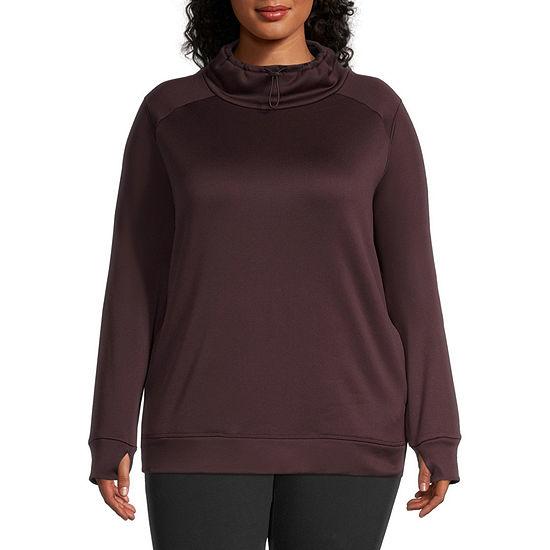 Xersion Womens Plus Turtleneck Long Sleeve Sweatshirt