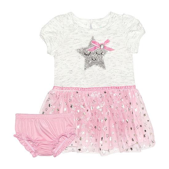 Nannette Baby Girls Short Sleeve A-Line Dress