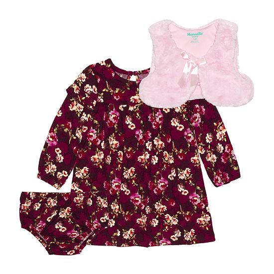 Nannette Baby Girls Long Sleeve A-Line Dress