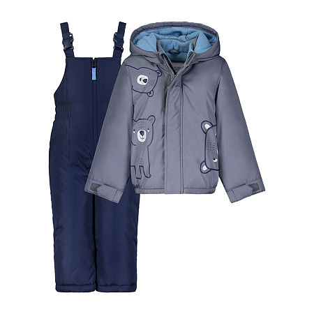 Carter's Baby Boys Heavyweight Animal Snow Suit, 12 Months , Gray