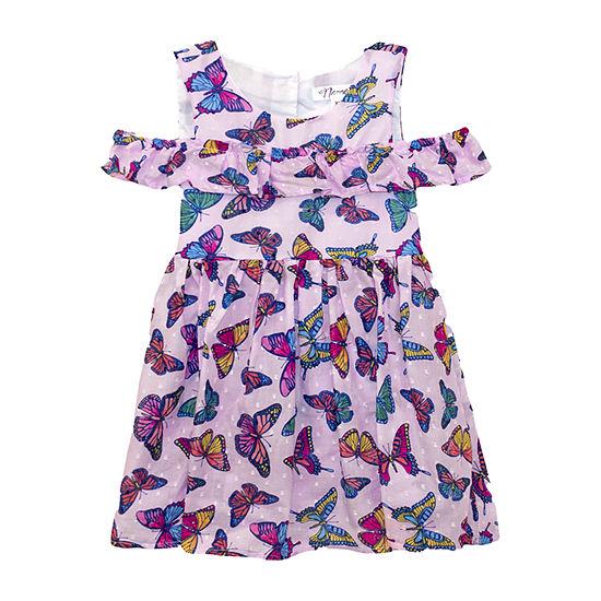 Nannette Baby Toddler Girls Short Sleeve Animal A-Line Dress