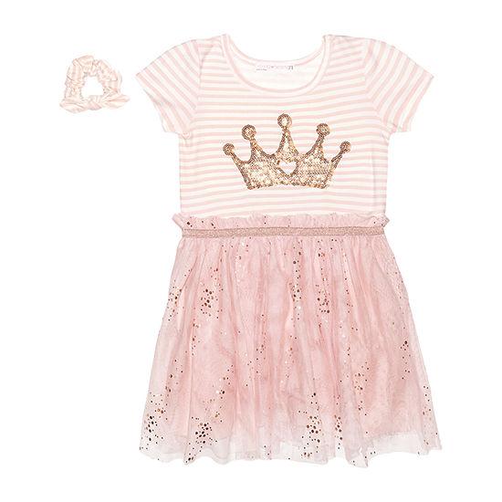 Nannette Baby Toddler Girls Short Sleeve A-Line Dress