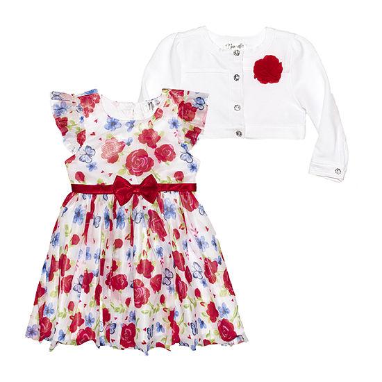Nannette Baby Toddler Girls 2-pc. Sleeveless A-Line Dress