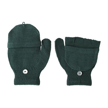 Capelli of N.Y. Little & Big Boys Mittens, One Size , Green