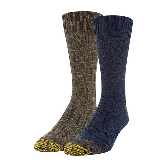 Gildan Mens 2 Pair Crew Socks