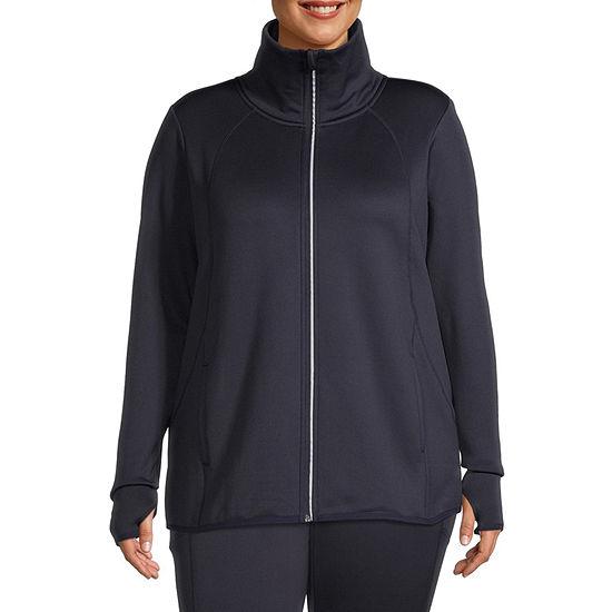 Xersion Womens Fleece Lined Jacket-Plus
