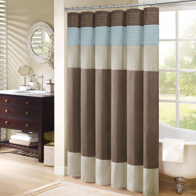 Good Madison Park Trinity Pleated Shower Curtain