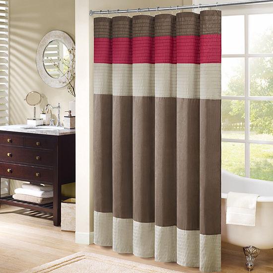 Madison Park Monroe Pleated Shower Curtain