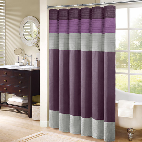 Madison Park Florence Pleated Shower Curtain JCPenney