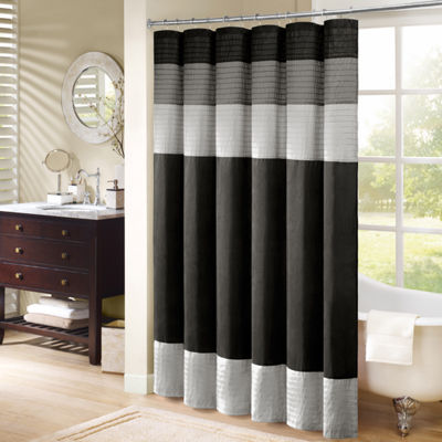 Infinity Pleated Shower Curtain