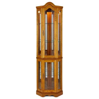 Country Corner Curio Storage Cabinet