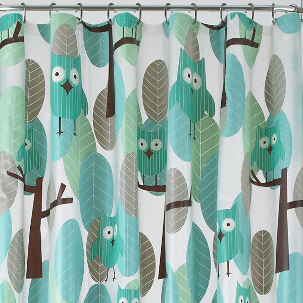 JCPenney Home™ Owls PEVA Shower Curtain