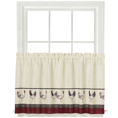 French Country Rod-Pocket Window Tiers