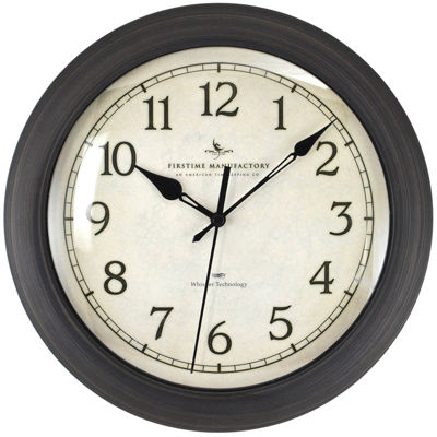 FirsTime® Slim Whisper Wall Clock