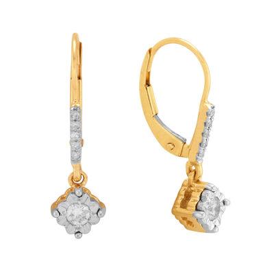 1/5 CT. T.W. Diamond 10K Yellow Gold Drop Earrings