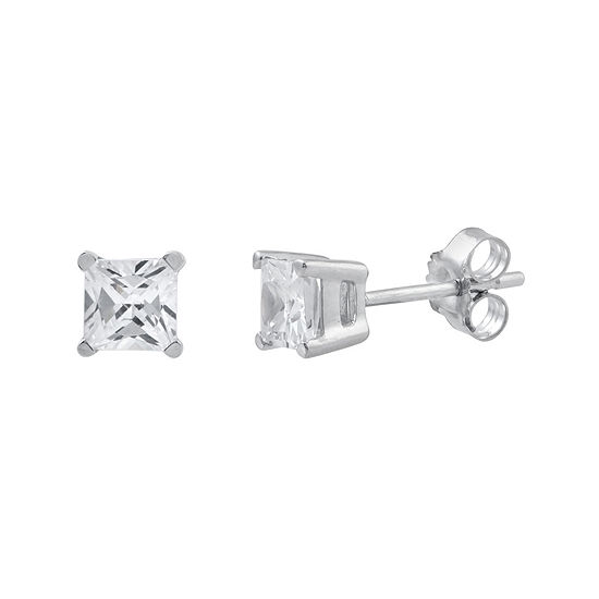 1 CT. T.W. Princess-Cut Diamond Stud Earrings