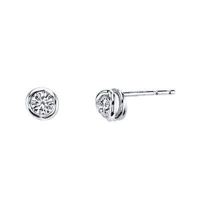 Sirena® 1/5 CT. T.W. Diamond 14K White Gold Stud Earrings