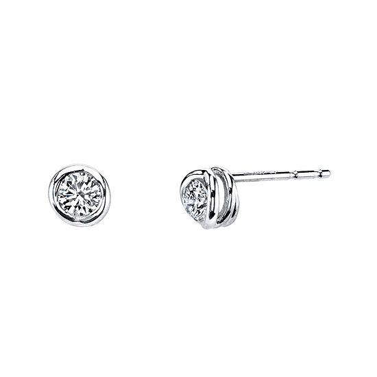 Sirena® 1/5 CT. T.W. Diamond 14K White Gold Stud Earrings