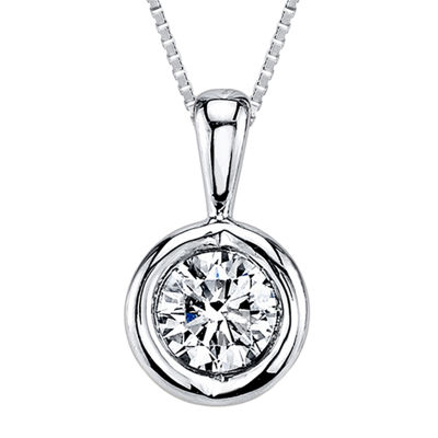 Sirena® 1/10 CT. Diamond Solitaire Pendant