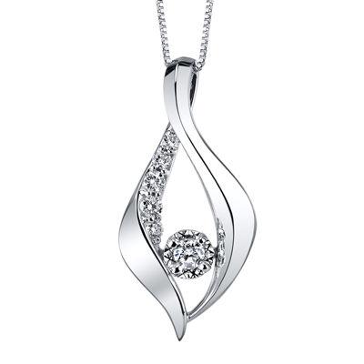 Sirena® 1/4 CT. T.W. Diamond White Gold Pendant