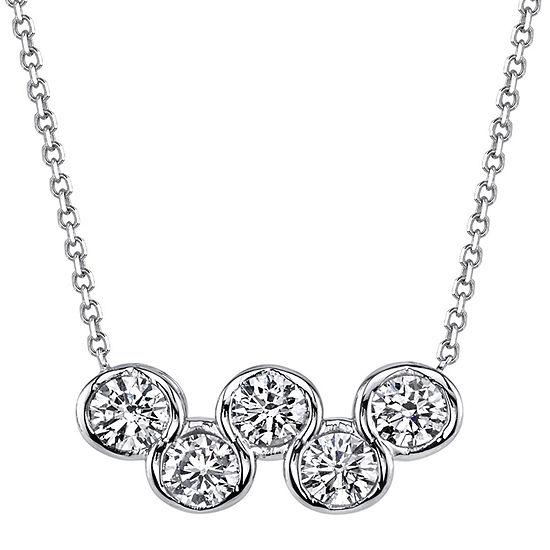 Sirena® 1/4 CT. T.W. Diamond 14K White Gold Pendant Necklace