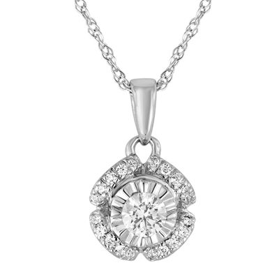 1/5 CT. T.W. Diamond 10K White Gold Pendant