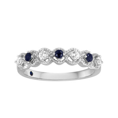 I Said Yes™ 1/6 CT. T.W. Diamond and Sapphire Ring