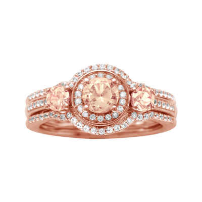 10K Rose Gold Morganite and Diamond Ring JCPenney