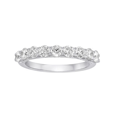 1 CT. T.W. Diamond and Lab-Created Sapphire 10K White Gold Ring