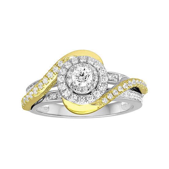 I Said Yes™ 5/8 CT. T.W. Diamond 10K Two-Tone Engagement Ring