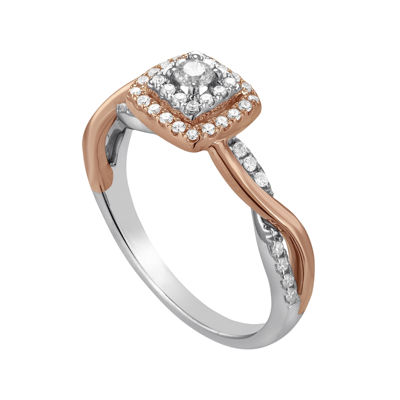 I Said Yes™ 3/8 CT. T.W. Diamond 10K Rose Gold Twist Engagement Ring