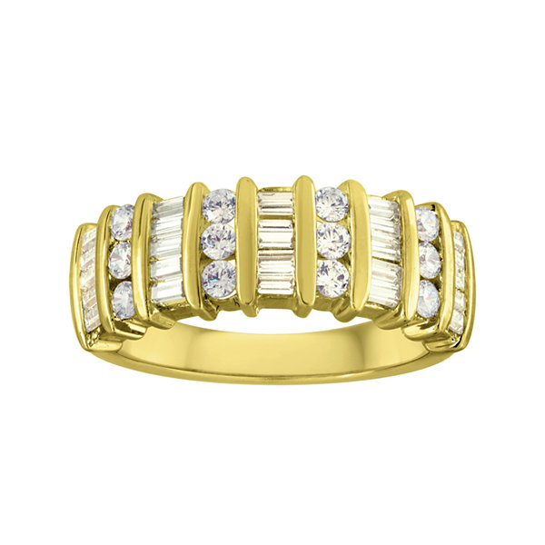 1 CT. T.W. Diamond 10K Yellow Gold Wedding Band