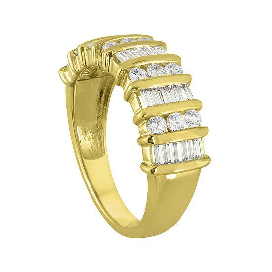 1 CT. T.W. Diamond 10K Yellow Gold Wedding Band