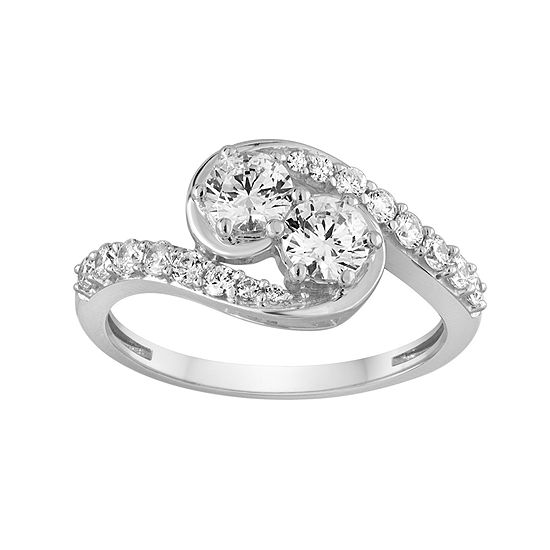 Two Forever 1 Ct Tw Diamond 14k White Gold Ring