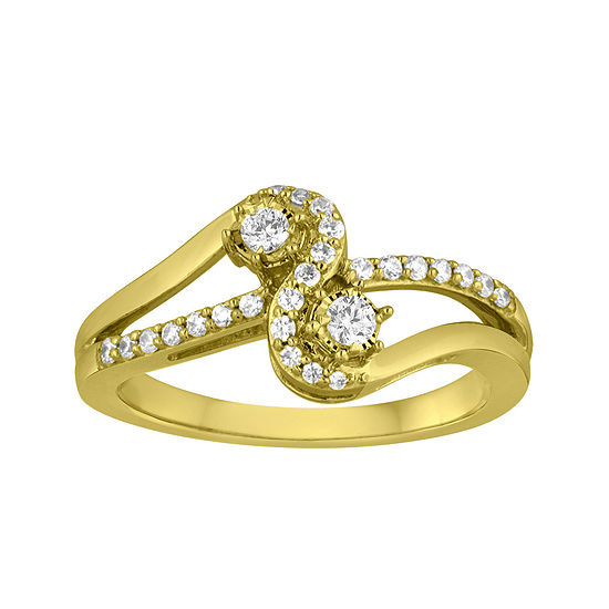 Two Forever™ 1/4 CT. T.W. Diamond 10K Yellow Gold Ring