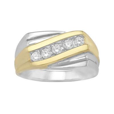 Mens ½ CT. T.W. Diamond Two-Tone Ring