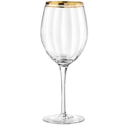 TableArt Tivoli Gold-Rim Set of 4 Wine Glasses