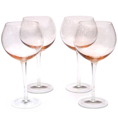 Certified International Set of 4 Balloon Red Wine Glasses